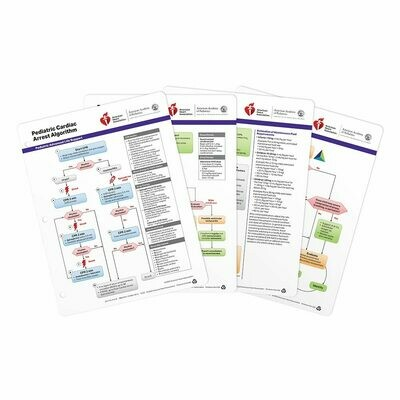 AHA 2020 PALS Emergency Crash Cart Cards