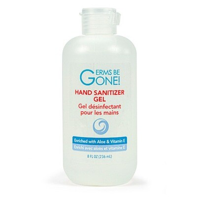Hand Sanitizer Germs Be Gone! Hand Sanitizer with Aloe and Vitamin E 8 Ounce Squeeze Bottle