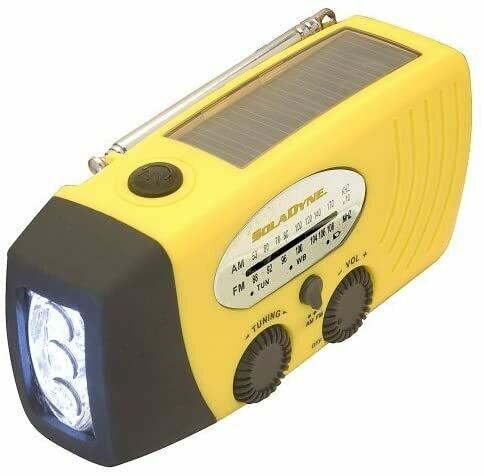 SolaDyne Radio and Flashlight