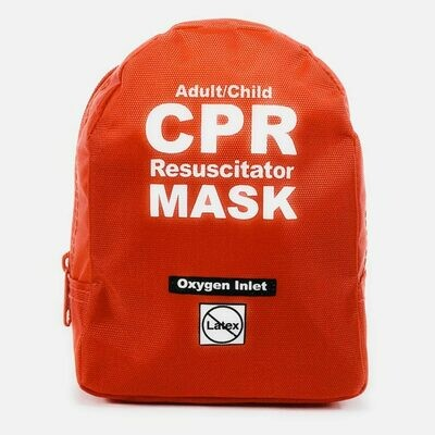 Adult/Child CPR Mask in Soft Case – RED
