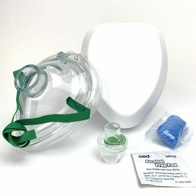 Adult/Child CPR Mask in Hard Case – No Print