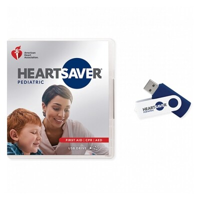 2020 Heartsaver Pediatric First Aid CPR AED Course Videos on USB Drive