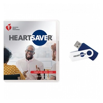 2020 Heartsaver First Aid CPR AED Course Videos on USB Drive