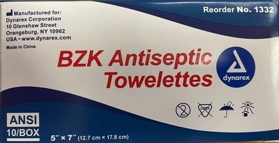 Antiseptic Towelettes Certified Safety # 675 213-038 or 519-551 or dynarex 1332