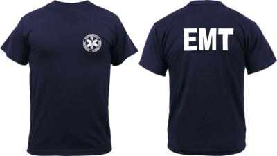 Kemp USA NAVY SIZE EMT SHIRT PRINTED FRONT AND BACK