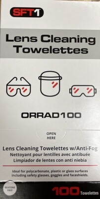 ORR Safety Lens Cleaning Towelettes 100 per box