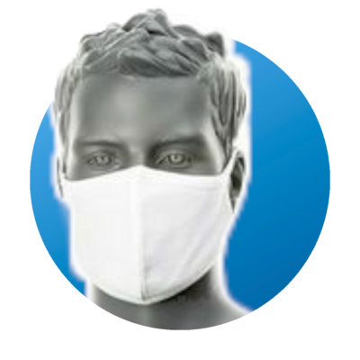 2-Ply Anti-Microbial Fabric Face Mask by Portwest