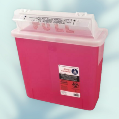 5 Qt Sharps Container dynarex with mailbox lid sold individually