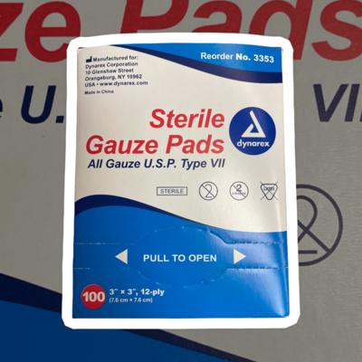 Dynarex 3353 Sterile Gauze Pads 3