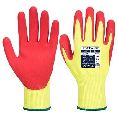 A626 - Vis-Tex HR Cut Glove  Yellow/Red