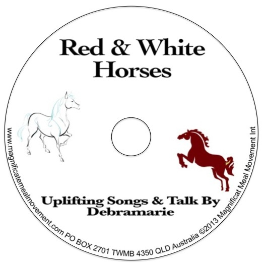 Red & White Horses 10175