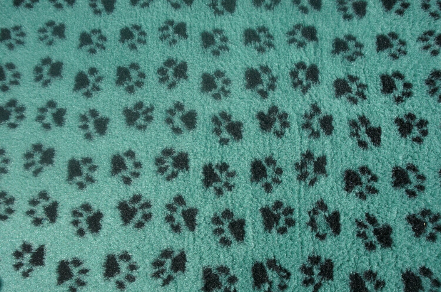{Single Sheets} : Ultra Premium - Non-Slip Backing : Sage Green with Black Paws  - Ref : (6352)