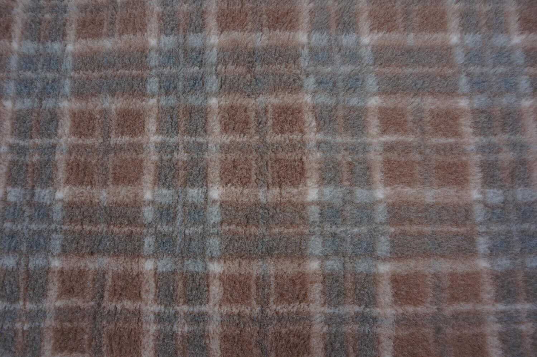 Minimum {15 x Metre Roll} : Ultra Premium - Non Slip Backing :  Mink / Brown and Grey Diamond Tartan - Ref : (6246)