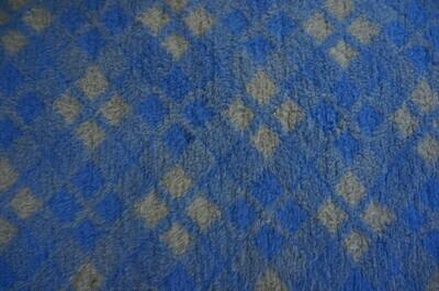 Minimum {15 x Metre Roll} : Ultra Premium - Non Slip Backing :  Blue and Grey Diamond Tartan - Ref : (6250)