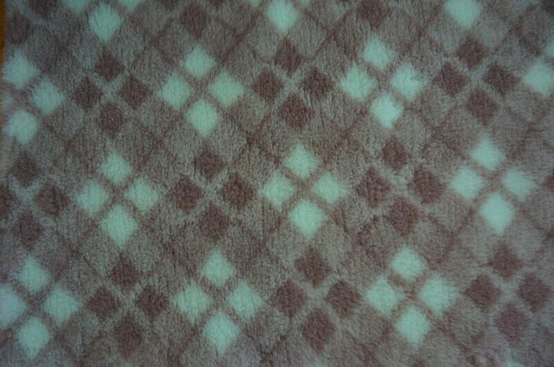 Minimum {15 x Metre Roll} : Ultra Premium - Non Slip Backing :  Mint Green, Mink and Brown Diamond Tartan - Ref : (6366)