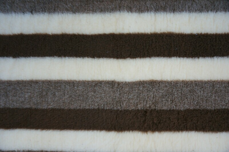 Minimum {15 x Metre Roll} : Ultra Premium - Non Slip Backing :  Brown / Fawn and Cream Stripes - Ref : (6276)