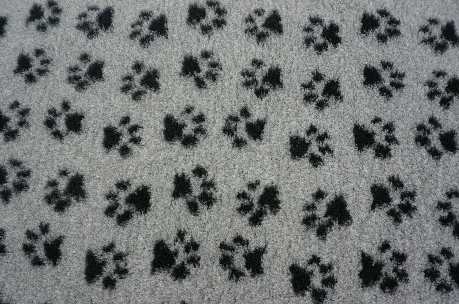 Minimum {15 x Metre Roll} : Ultra Premium - Non Slip Backing :  Grey with Black Paws - Ref : (6332)