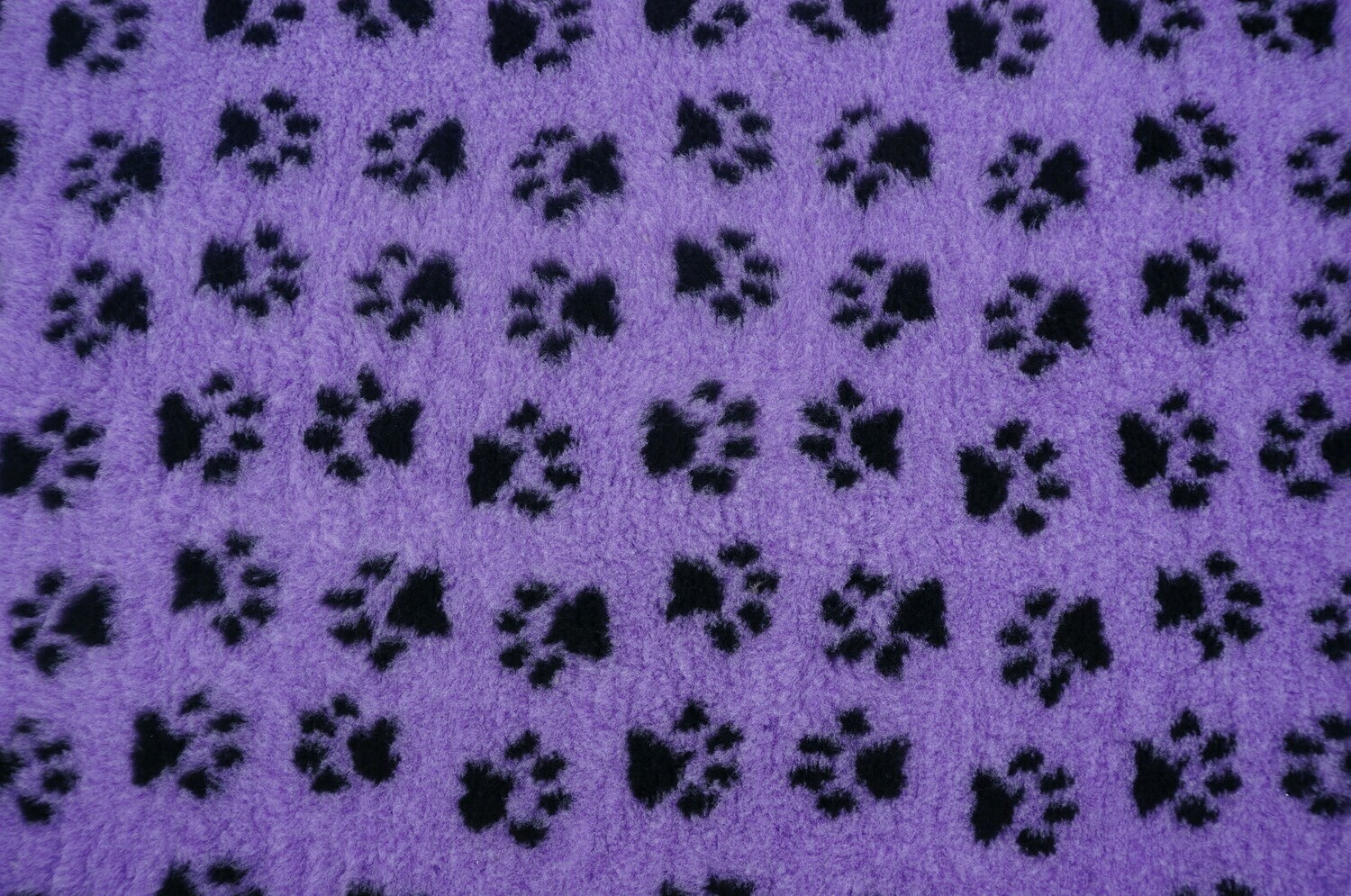 Minimum {15 x Metre Roll} : Ultra Premium - Non Slip Backing : Lilac with Black Paws - Ref : (6350)