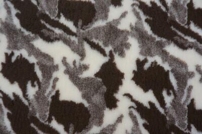 { Single Sheets } Ultra Premium Non-Slip Backing Original Vet Bedding Fleece : Camuflage : Brown / Sand and Cream Pattern - Ref : (6252)