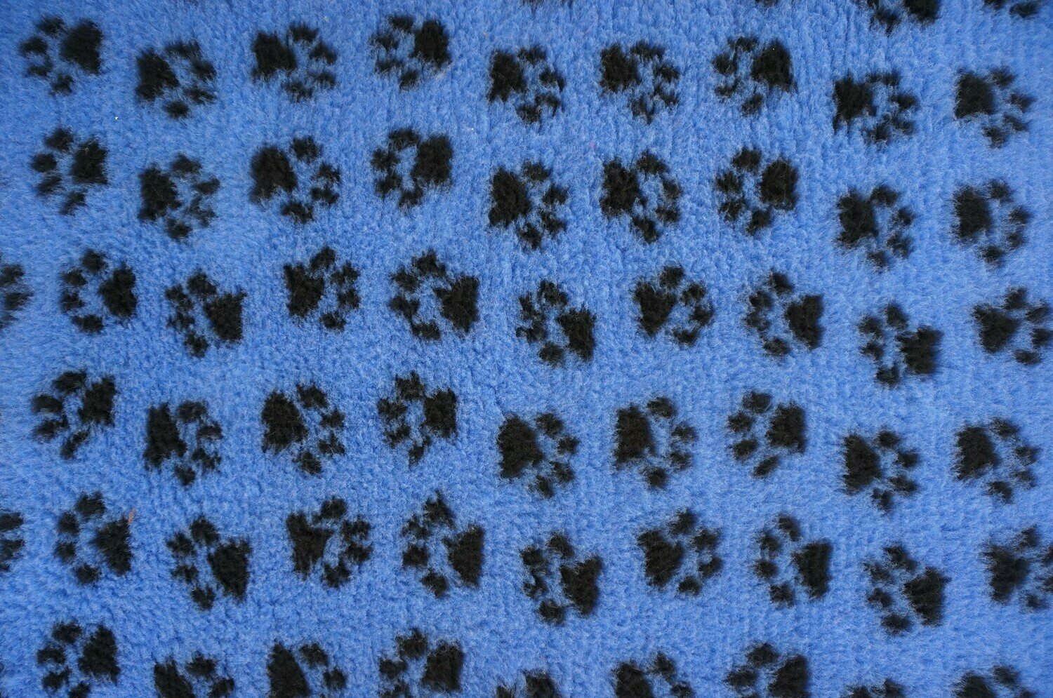 {Single Sheet} : End of Roll Ultra Premium - Non Slip Backing :  Royal Blue with Black Paws - Size : 150cm x 90cm - At a Price to suit all - Ref : (6329)