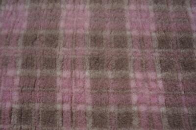 (Single Sheets) Premium - Non Slip Backing :  Mink and Pink  Diamond Tartan - Ref : (6298)