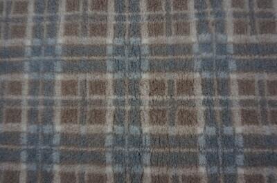 {Single Sheets} : Ultra Premium - Non Slip Backing : Mink / Brown &  Grey Diamond Tartan - Ref : (6246)