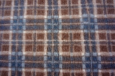 {Single Sheets} : Ultra Premium - Non Slip Backing :  Mink / Brown and Grey Diamond Tartan - Ref : (6246)