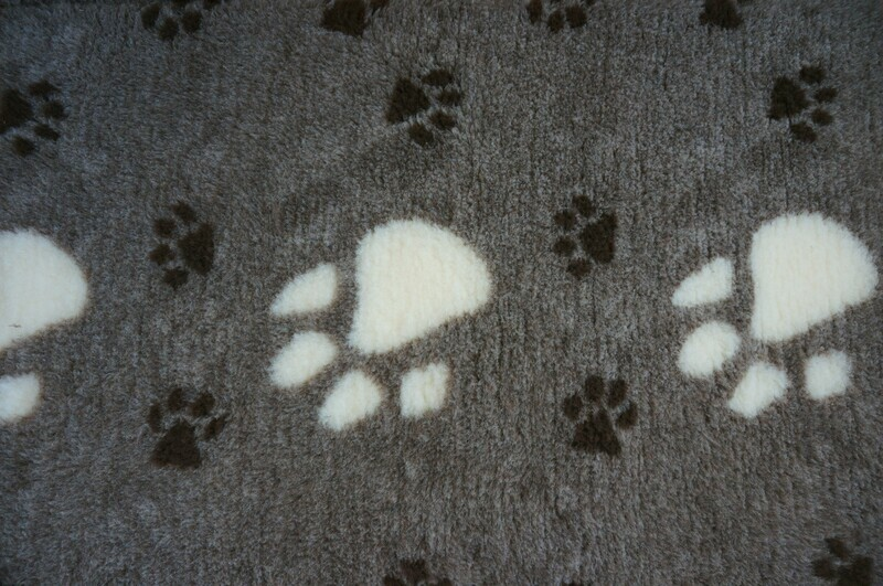 {Single Sheets} : Ultra Premium - Non Slip Backing :  Big Paw - Dark Grey with Large White & Small Black Paws - Ref : (6296)