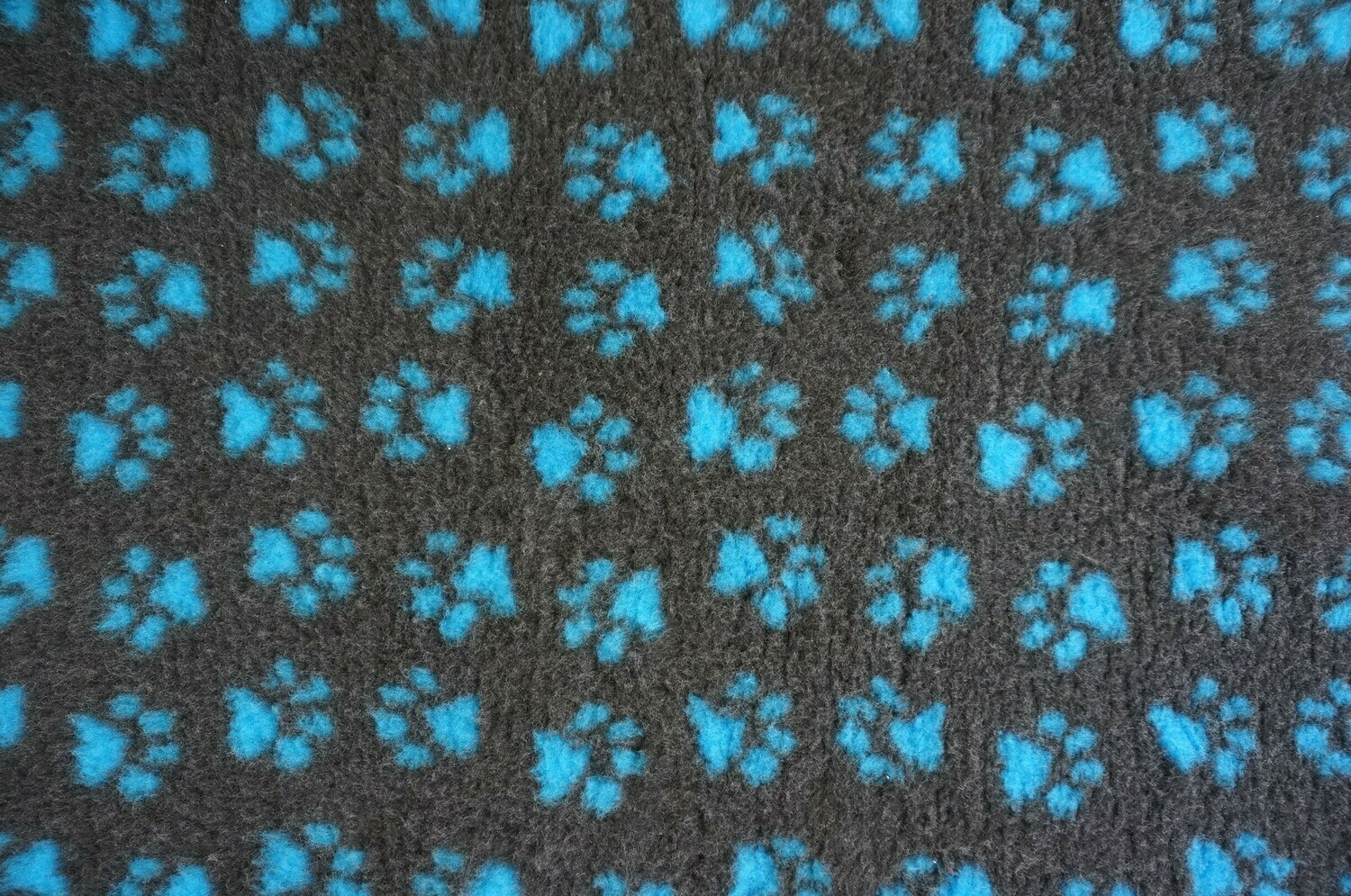 (Single Sheets) Premium - Non Slip Backing : Charcoal with Teal Blue Paws - Ref : (6380)