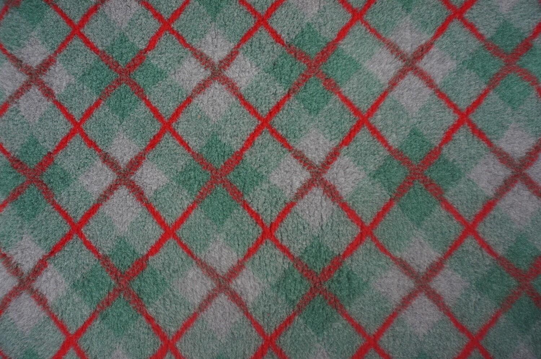 (Single Sheets) Premium - Non Slip Backing : Green / Grey and Red  Diamond Tartan - Ref : (6500)