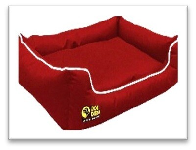 """Waterproof Dog Dreamer Settee 5cm (2"""") MEMORY FOAM with White Piping Extra Inner Protective Water Resistant Cover : (7611)"""