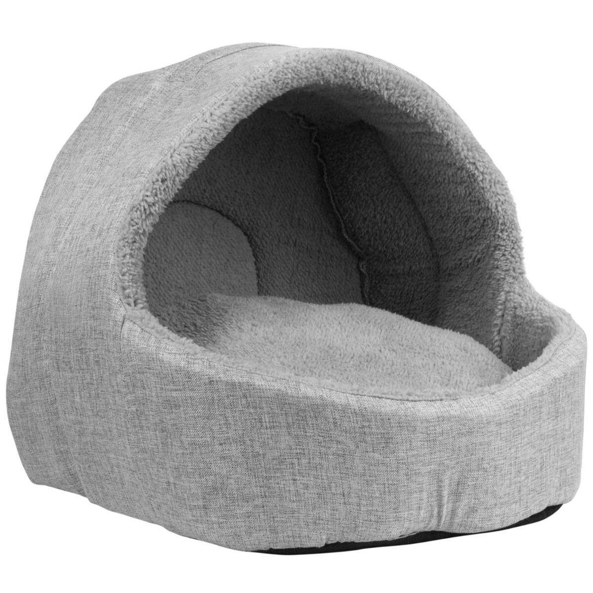 Soft Fleece Cat Igloo Bed - Grey : Ref (6334)