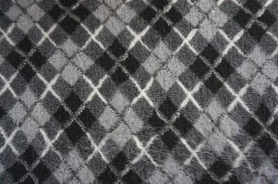 Ultra Premium Non-Slip - Two Tone Grey with Black & White Diamond Tartan (Ref: 6336)