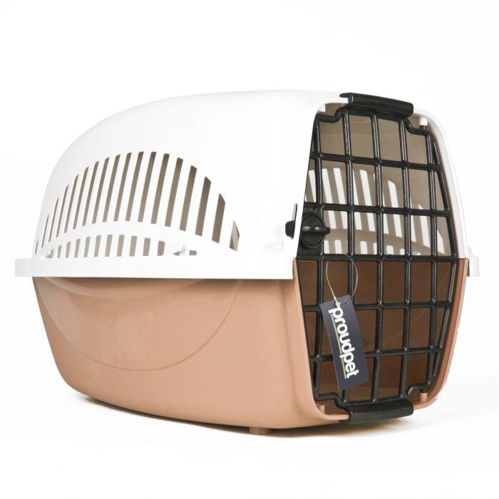 Hard Pet Carriers - Colours: Brown & Blue : (Ref: 6270)