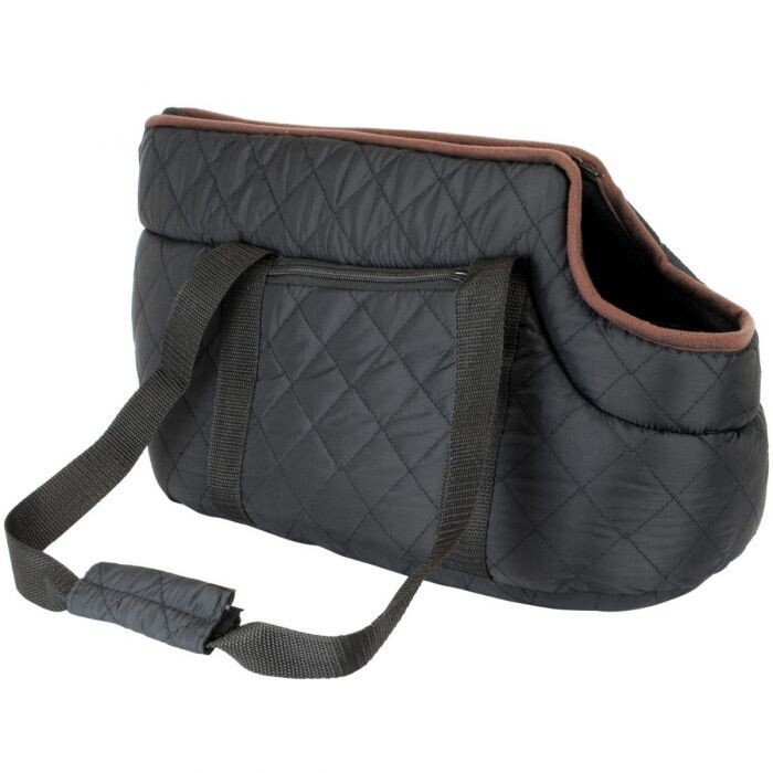 Black Quilted Pet Carrier (Ref: 6274)