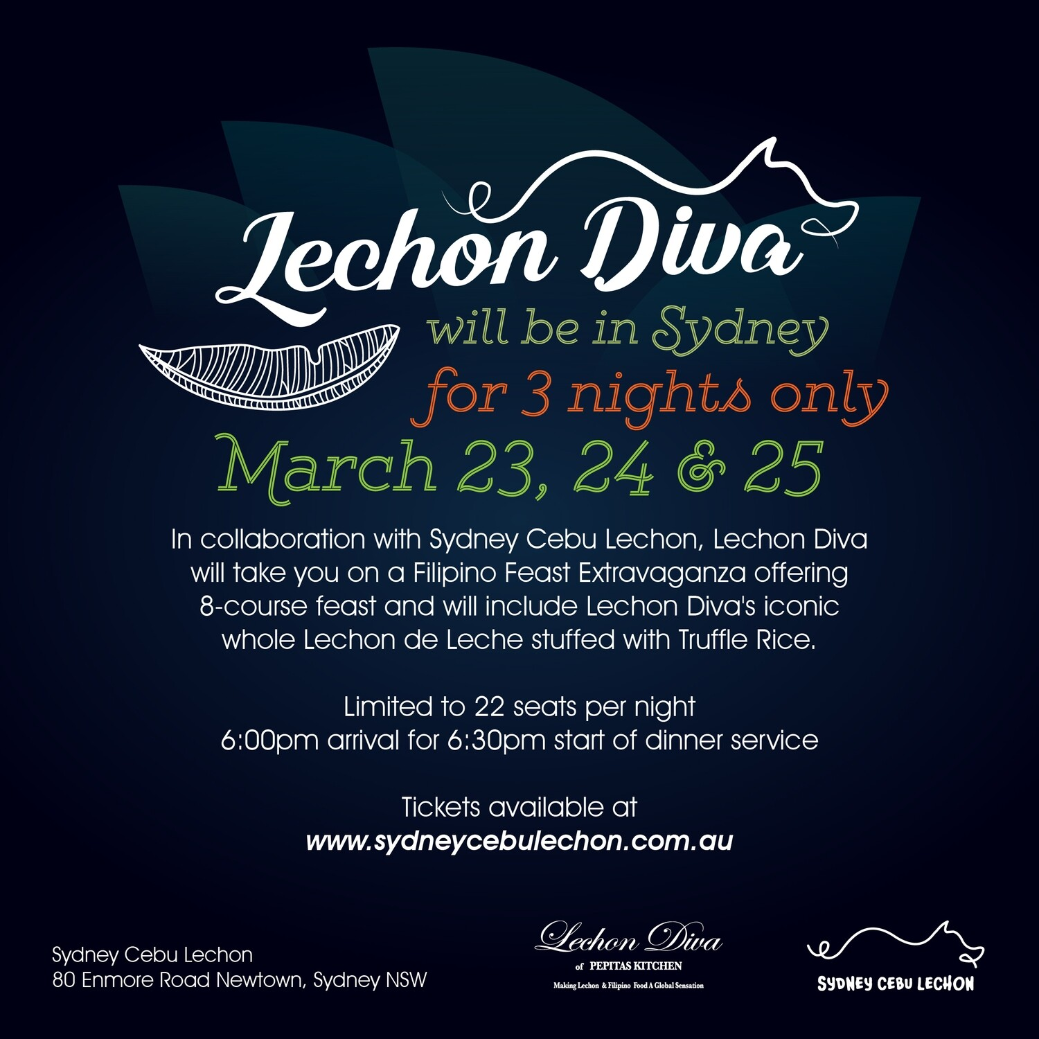 Lechon Diva Tickets - Event Postponed & will be rescheduled.