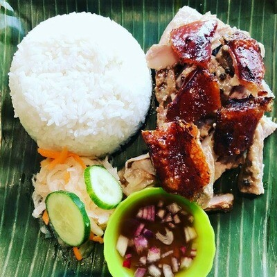 Original or Hot & Spicy Cebu Lechon Meal w/Rice (150 grams Charcoal Roast Pork) *SIGNATURE DISH*