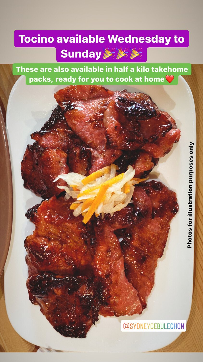 Tocino - Take Home Pack (Cook-It-Yourself) *half kilo*