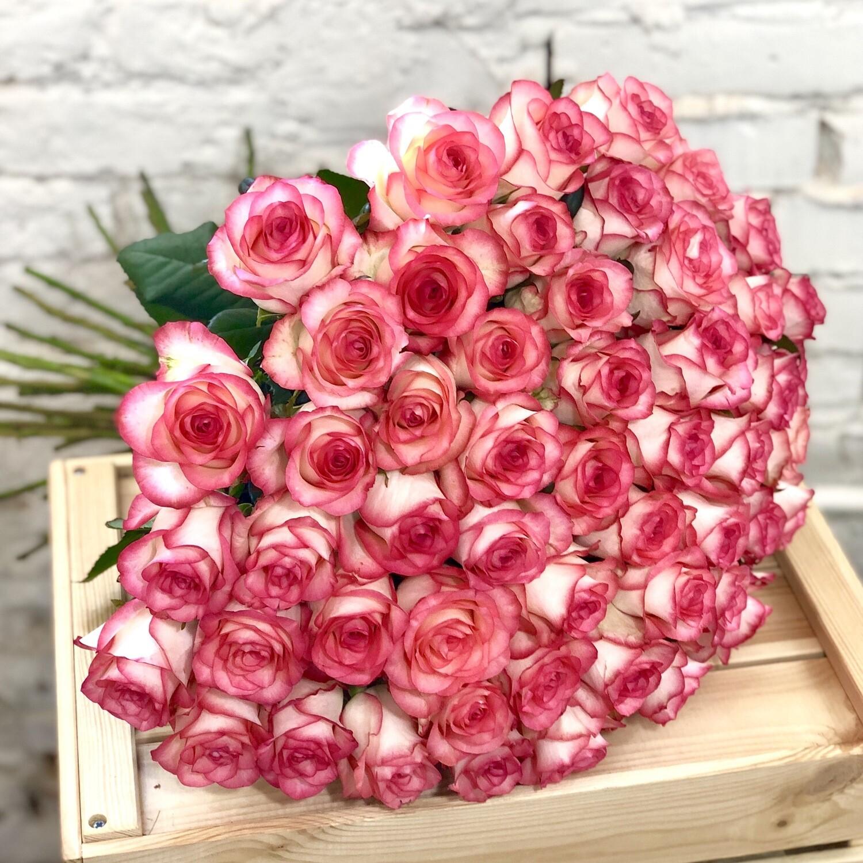 Букет из 51 розовой розы Джумилия