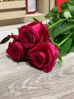 Роза малиновая по-штучно