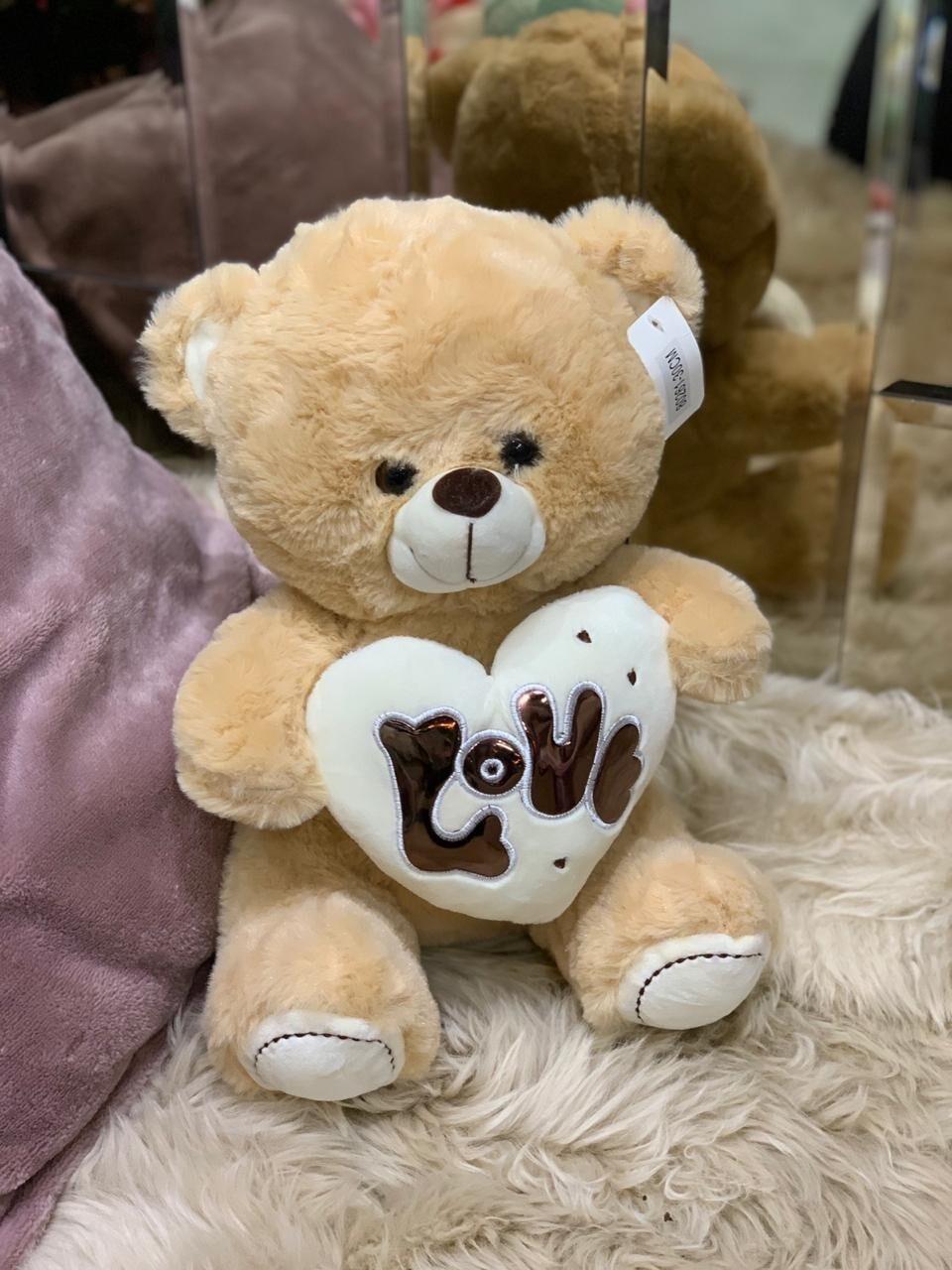 """Мягкая игрушка """"Мишка с сердцем LOVE"""""""