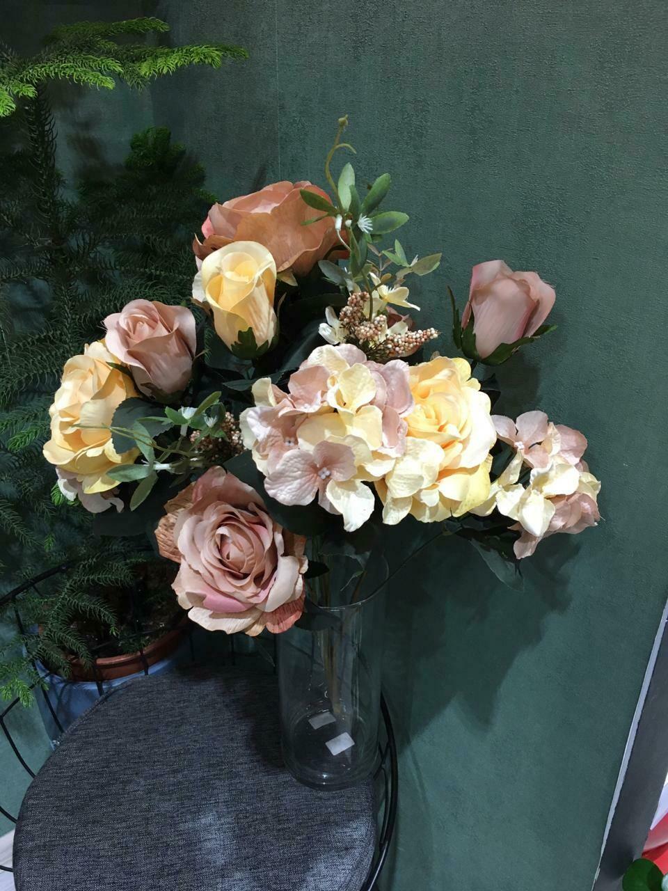 Искусственные цветы Роза+Гортензия