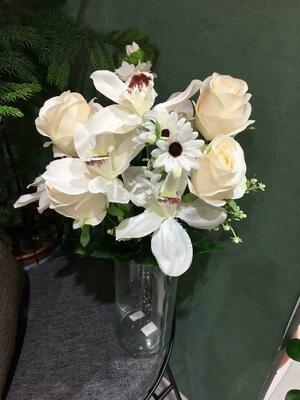 Искусственные цветы Роза+Орхидея - 1 шт.