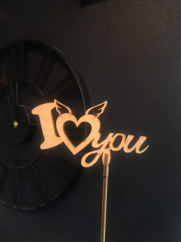 Топпер «I love you»