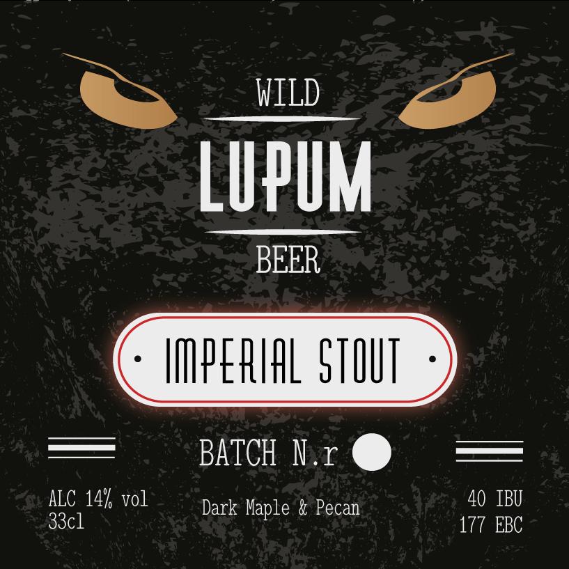 LUPUM Imperial Stout Dark Maple & Pecan