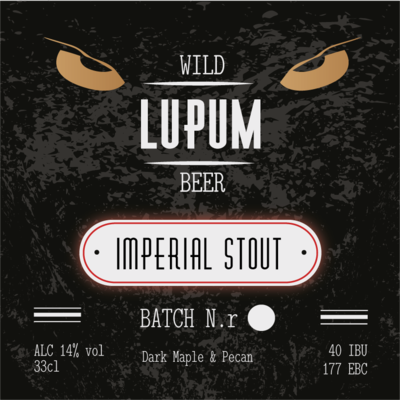 LUPUM Imperial Stout Dark Maple & Pecan