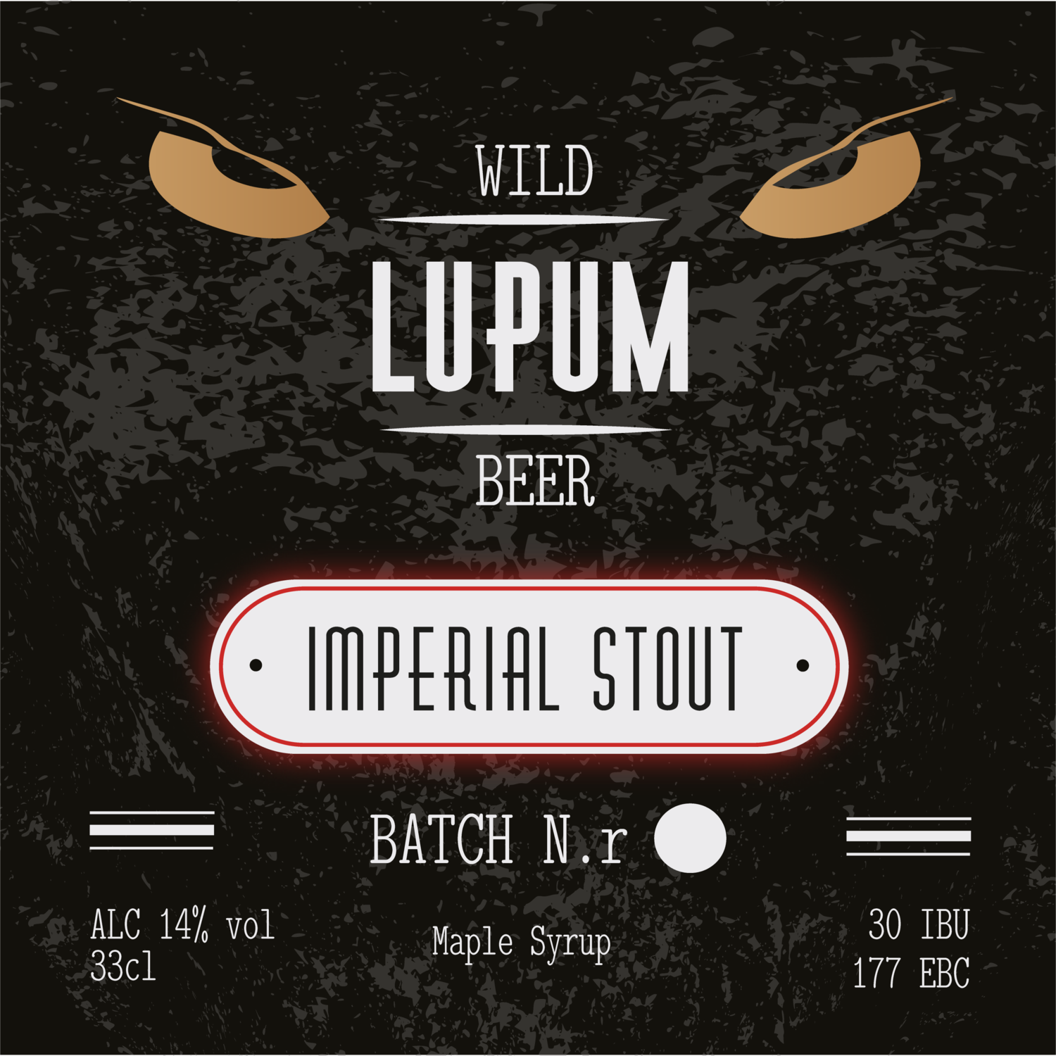 LUPUM Imperial Stout Maple Syrup