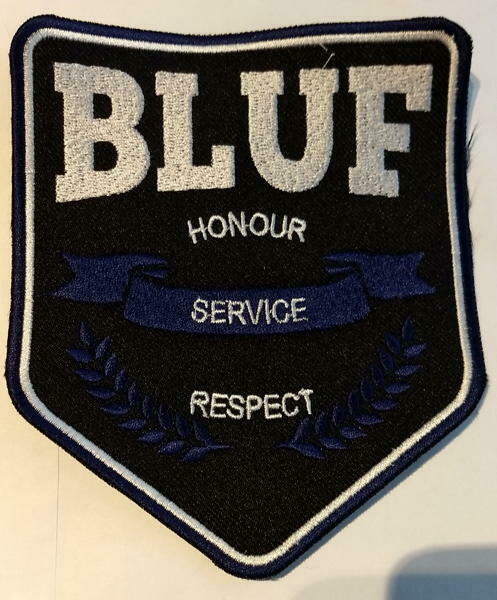 BLUF Embroidered badge - shield