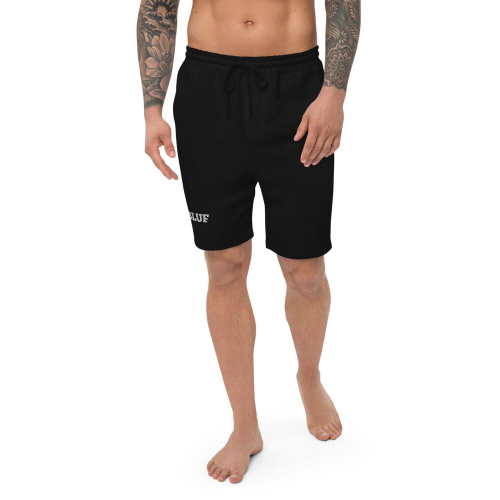 Men's fleece shorts (white logo)