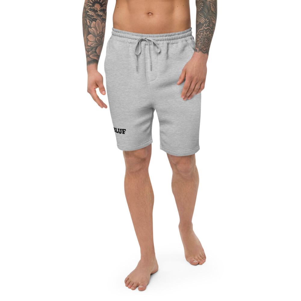 Men's fleece shorts (black logo)